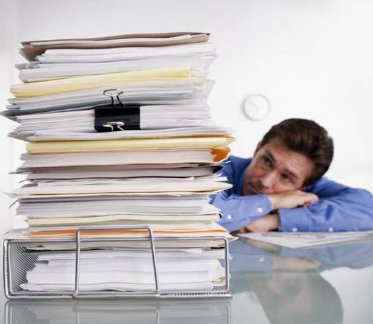 Paperwork Piling Up